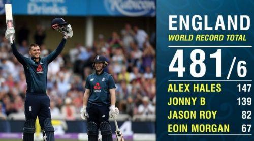 England Registered Highest Ever ODI total