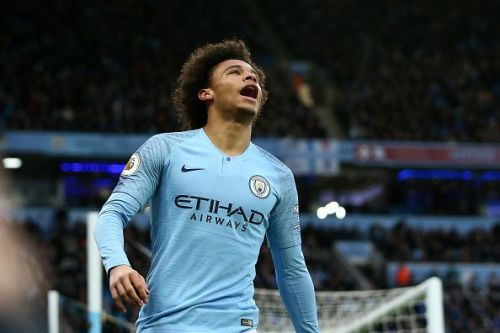 Manchester City star Leroy Sane in action.