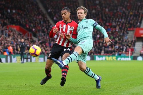 Monreal shifted from a wing-back to a back four after Bellerinwas replaced