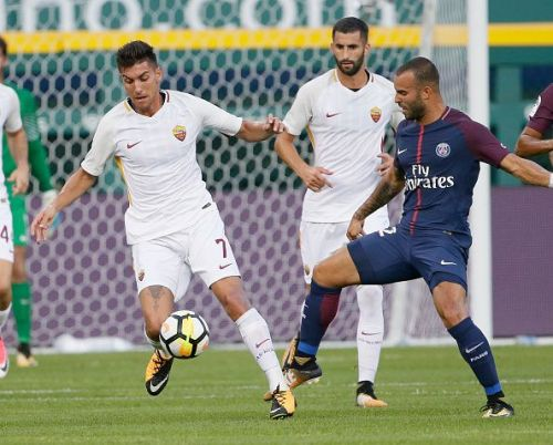 Jesé in action for PSG against Roma.