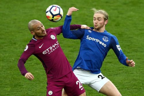Manchester City take on Everton FC
