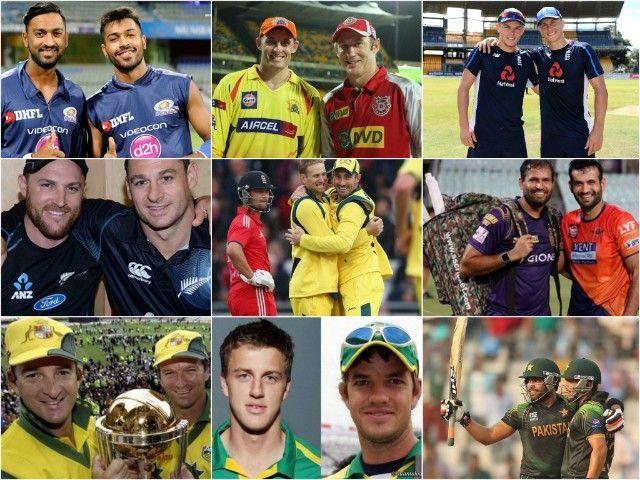 Brothers in international cricket