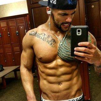 One of Ricochet's social media posts displaying his ripped nature.