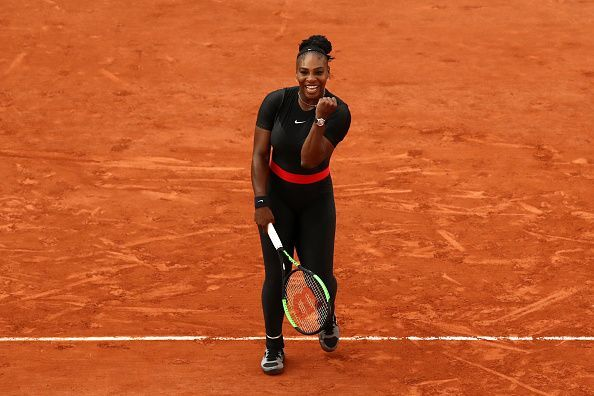 Serena Williams during the French Open