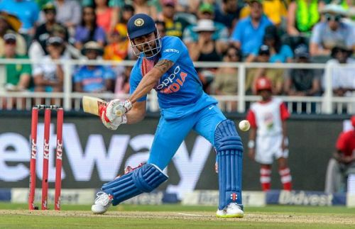 Manish Pandey pictured playing for India