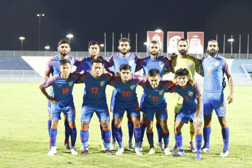 Indian football team against Oman