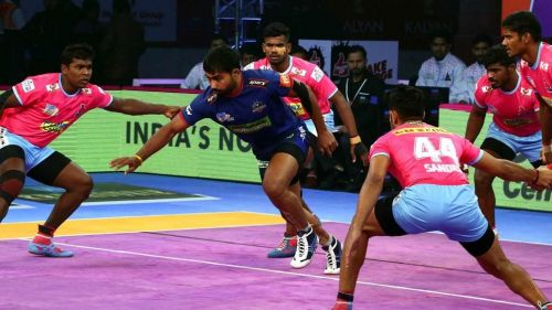 Jaipur Pink Panthers clinched their third win of the season against Haryana
