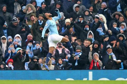 Raheem Sterling scored with his first touch after coming on as a substitute. Manchester City eased to a 3-1 win over the Toffees.