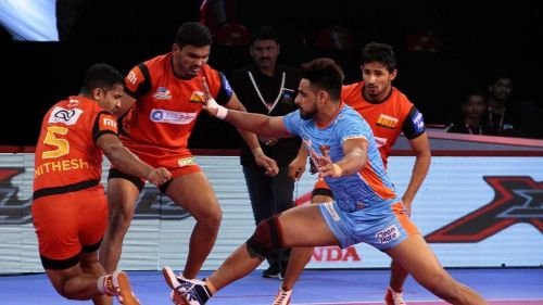 Maninder Singh scored 12 points in the second half of the match