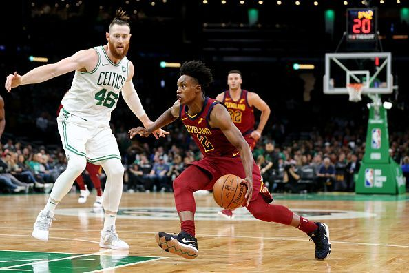 Aron Baynes (L) and Collin Sexton (R)