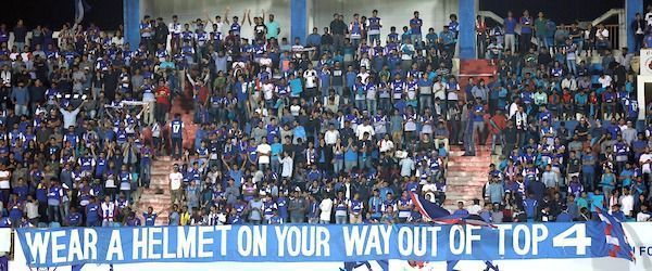 Bengaluru FC wasfined Rs 15 lakhs after their fans were found to have abused match officials