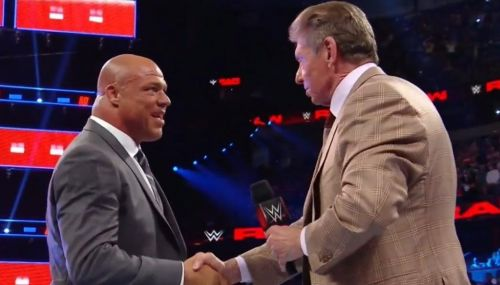Kurt Angle and Vince McMahon