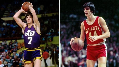 Pete Maravich's number 7 jersey was retired by the city's previous as well as the current franchise