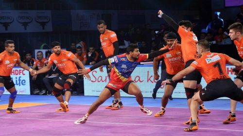 It would be an exciting contest between U Mumba's defense and the Yoddhas' raiders.
