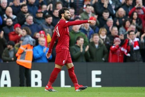 Mohamed Salah of Liverpool FC in action.