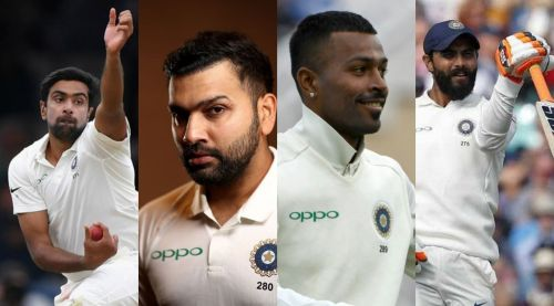 Ashwin, Rohit, Pandya and Jadeja
