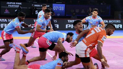 GB More was the top raider for the Puneri Paltan