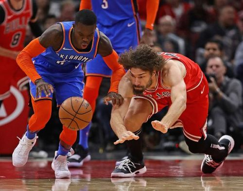 The Oklahoma City Thunder came away with an easy win over the Chicago Bulls 121-98