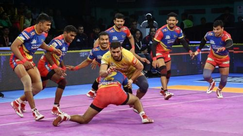 Nitesh Kumar was in top form in the UP Yoddha defence