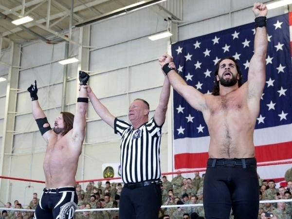 Seth Rollins and AJ Styles defeated Dean Ambrose and the New Daniel Bryan in the main event of Tribute to the Troops