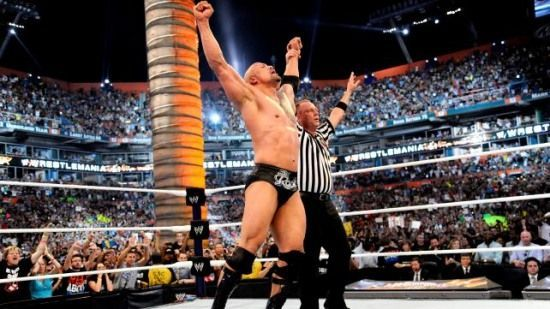The Rock defeated Cena at WrestleMania 28
