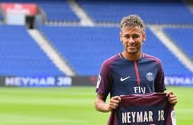 Neymar after signing for Paris-Saint Germain