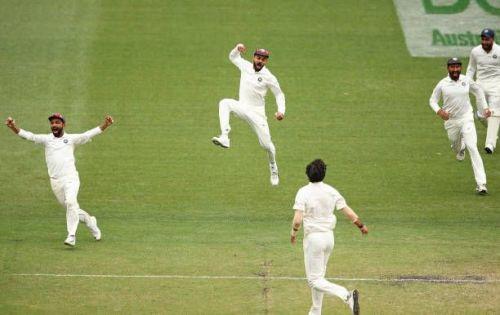Kohli winning celebration