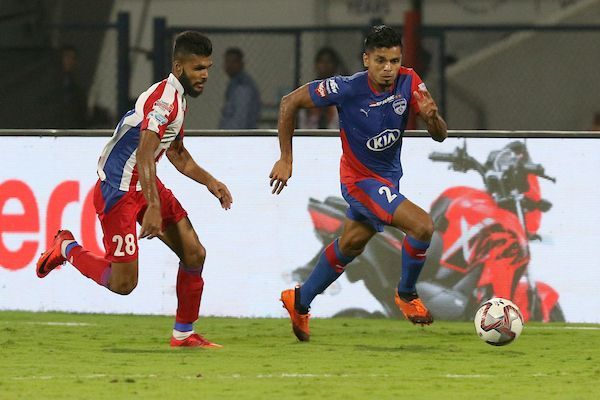 Rahul Bheke played as a right-back and later as a left-back against ATK [Image: ISL]
