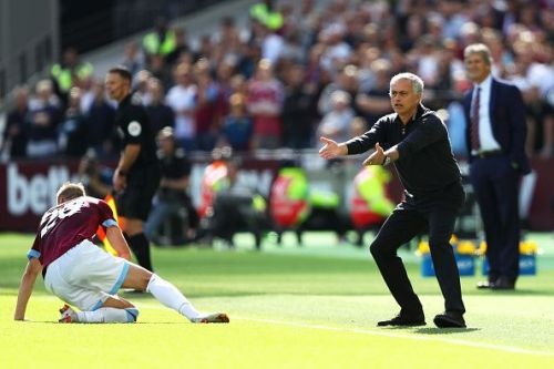 Mourinho has shown signs of frustration this season.