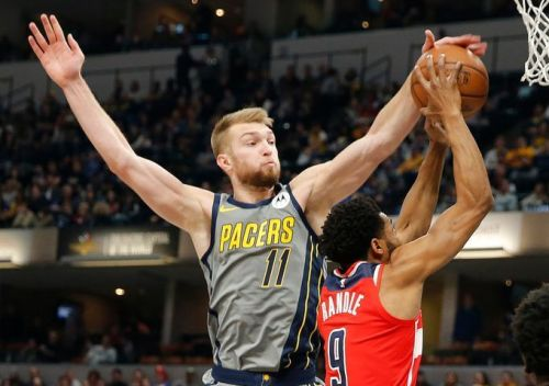 Domantas Sabonis came off the bench and tallied a double-double