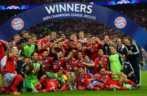 Bayern's 2012-13 Champions League was for their fifth time.