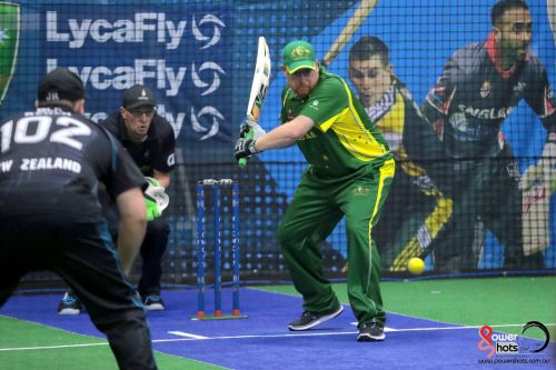 Jay Otto batting during the 2017 Indoor Cricket World Cup (Image Courtesy: Powershots Photography)
