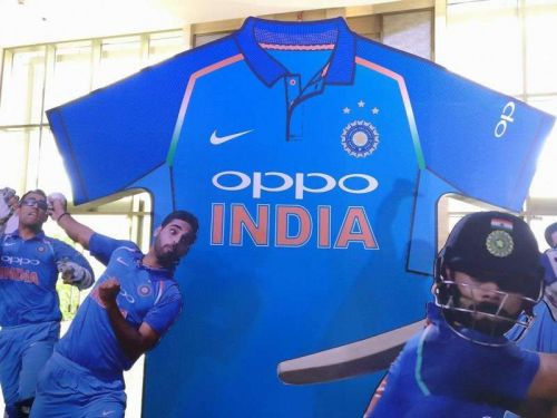 ODI jersey with sponsor name and player number