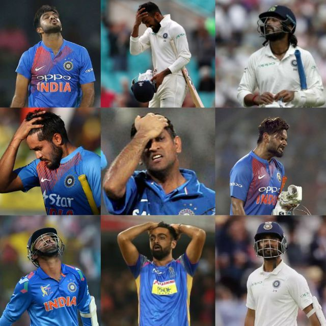 Indian players who disappointed in 2018