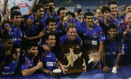 Rajasthan Royals won the first edition of IPL