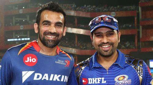Zaheer Khan with Rohit Sharma