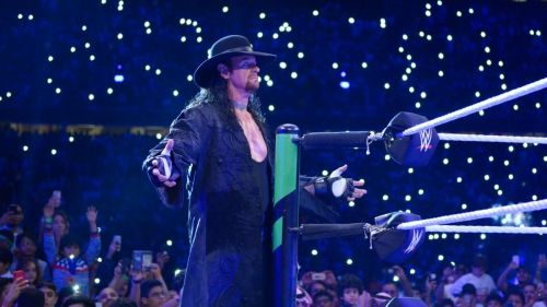 The Undertaker at the Greatest Royal Rumble.