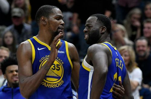 Draymond Green and Kevin Durant clashed last month during a loss to the Clippers