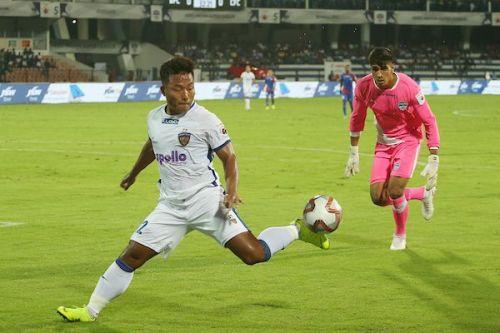Chennaiyin FC's Jeje Lalpekhlua has zero goals this season (Image: ISL)