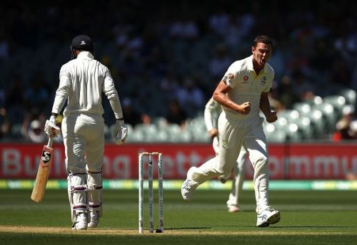 Josh Hazlewood removed KL Rahul to spark India's top-order collapse