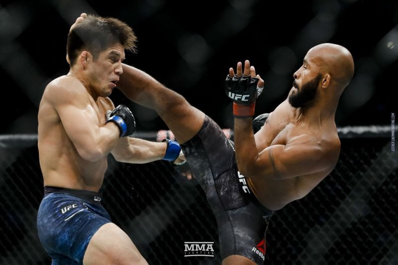 Demetrious Johnson during his last and final fight for the UFC at the UFC 227 event!