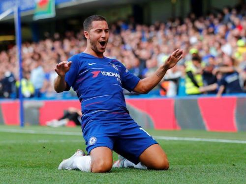 Eden Hazard has now scored over 100 goals for Chelsea