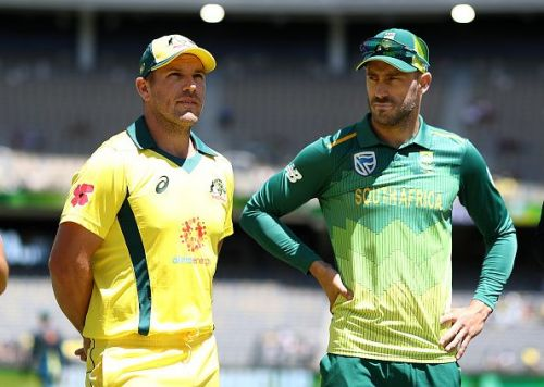 Aaron Finch and Faf du Plessis.