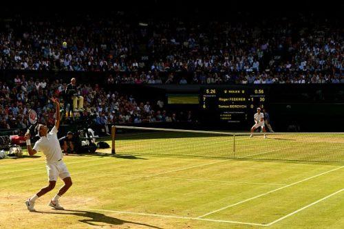 The Roger Federer serve - Perfect action
