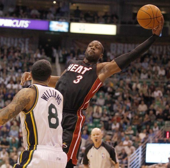 Action from Miami Heat v Utah Jazz game