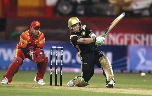 Brendon McCullum during his knock of 158 runs at the Inaugural match of IPL 2007