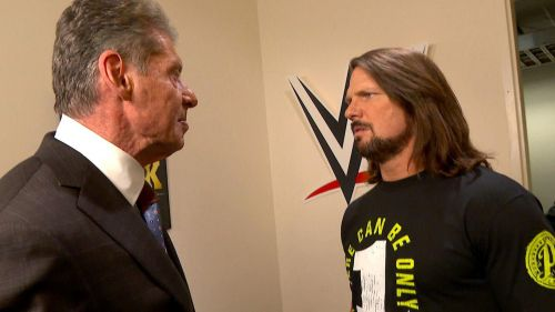 AJ Styles and Vince McMahon