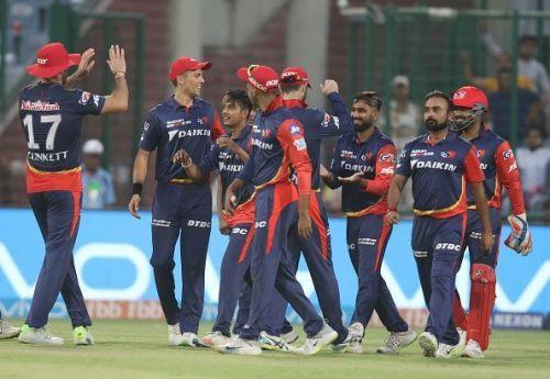 Delhi Daredevils Team during IPL 2018