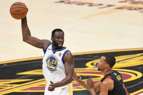 Draymond Green playing in the 2018 NBA Finals for the Warriors