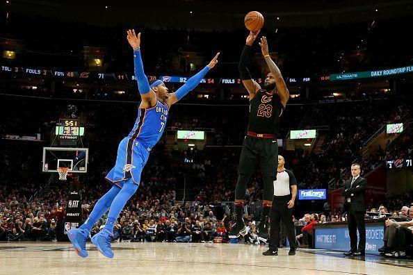 Carmelo Anthony struggled on defense with the Oklahoma City Thunder last season
